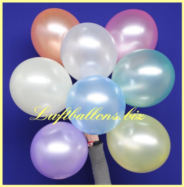 Perlmutt-Luftballons. Die mit dem seidigen Glanz