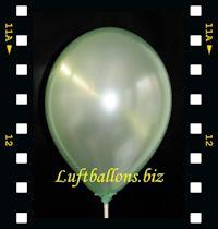 Video: Luftballon Perlmutt Grün