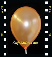 Luftballon Perlmutt Orange Video